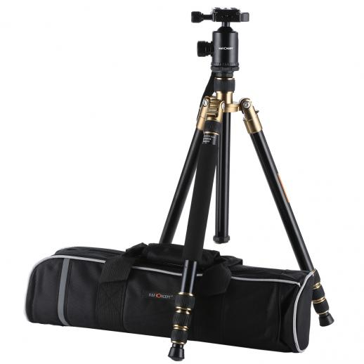 TM2534 Tripod Monopod Kit Aluminum 64 inch 360 Degree Ball Head 12KG Load Capacity