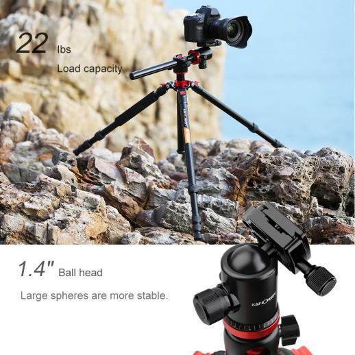 TM2534T Professional Tripod Monopod 72 Inch Aluminium 4 Section 360 Degree Ball Head Quick Release Plate Load Capacity 8KG