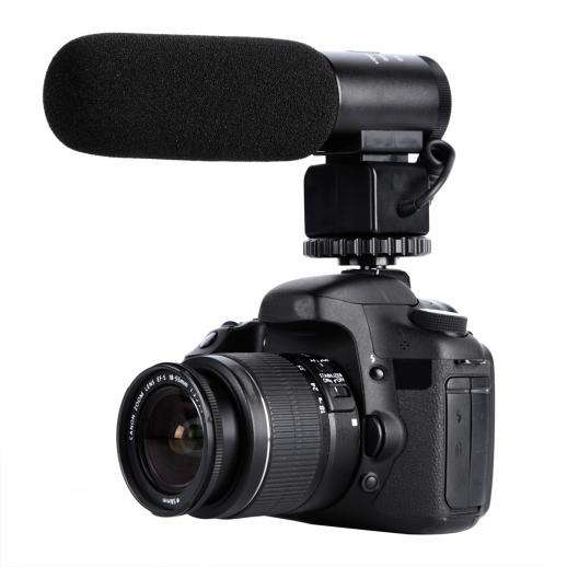 CM-500 Shotgun Microphone for DSLR Photography, Professional Interview Recording 3.5mm Interface