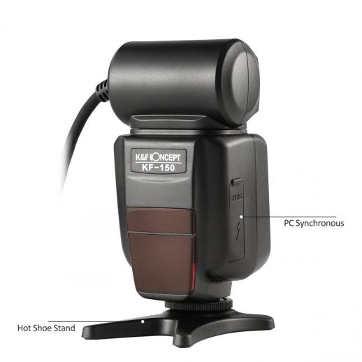 KF150 TTL Flash Macro Ring Lite with LED for Canon EOS Rebel