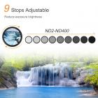 52mm Variable ND Filter ND2 to ND400 + Cleaning Cloth