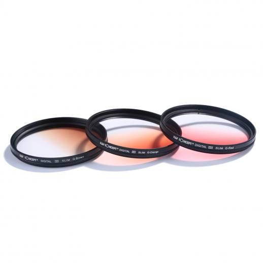 52mm filter set uv cpl fld graduated blue orange