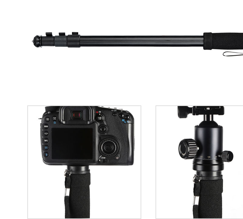 4-Section Portable Travel DSLR Monopod